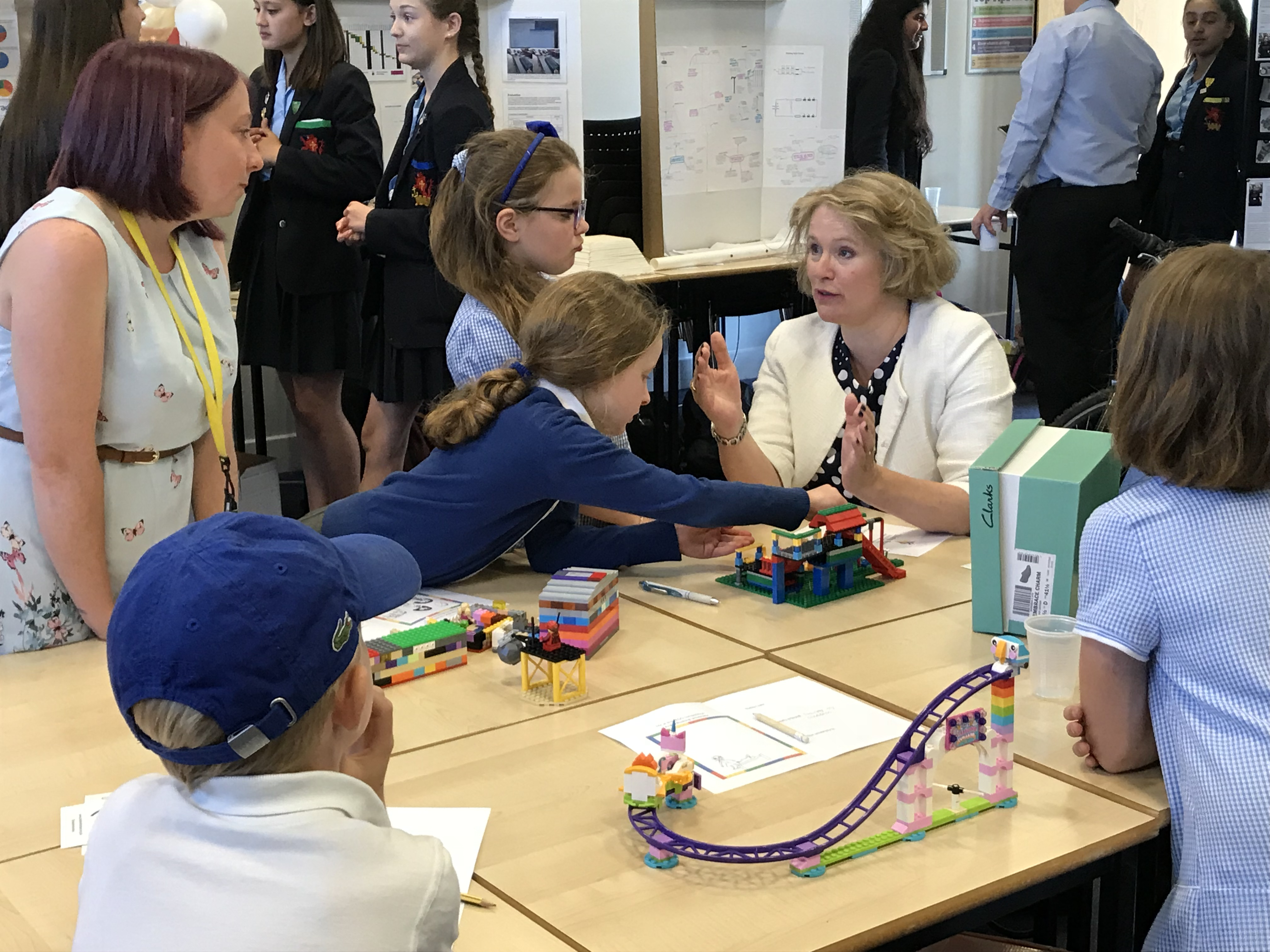 Vicky Ford speaks to children of Trinity Road Primary School about STEM career opportunities